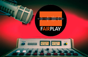 fairplay logo with mic and mixer
